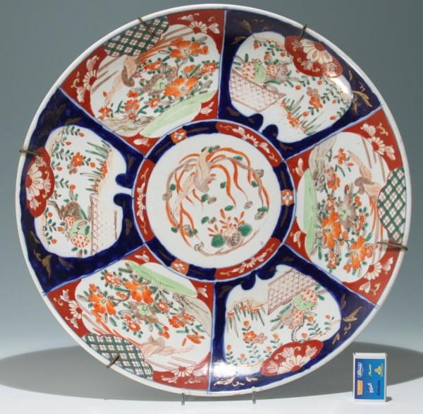 Big Japanese Imari Dish - 19/20th. C. - Ø 45,6 cm - 3,4 kg