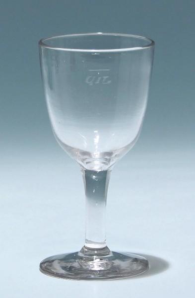 Weinglas mit Eichung 0,1 L - 19. Jh.
