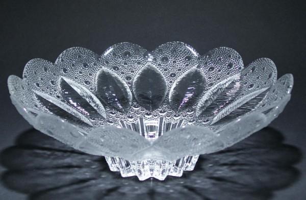 Kristallschale MEDEA Lausitzer Glas 27 cm (Goldmedaille LHM 1981)