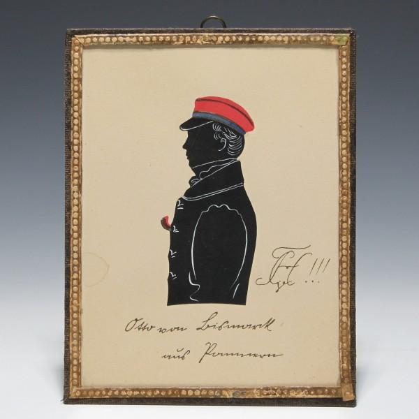 Silhouette Kneipbild Otto von Bismarck aus Pommern, Corps Hannovera Göttingen