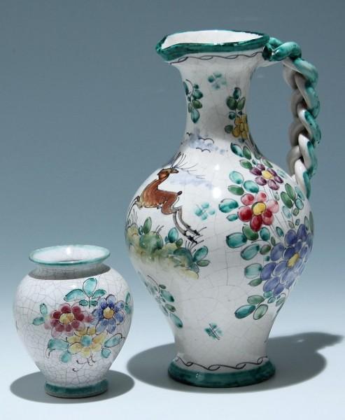 Keramikkanne und Vase 1950er Jahre