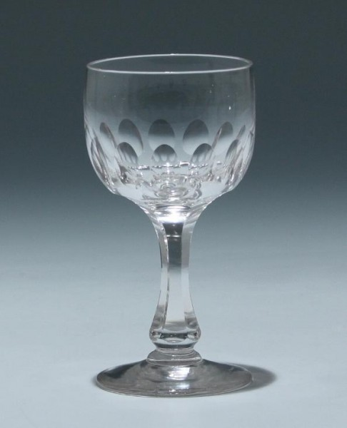 Bleikristall Kelchglas Frankreich circa 1900 - Höhe 11,4 cm