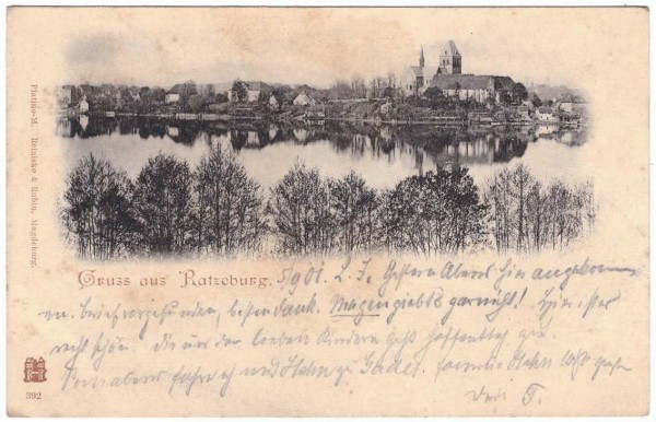 AK RATZEBURG - gelaufen 1901 - fleckig #ak0116