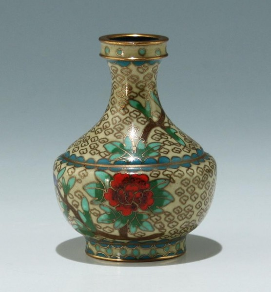 Kleine Cloisonné Vase - China 20. Jh. - 7,8 cm
