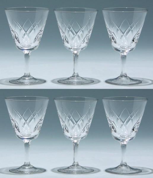 6 Spiegelau Weingläser KARAT 1950er Jahre - 13 cm