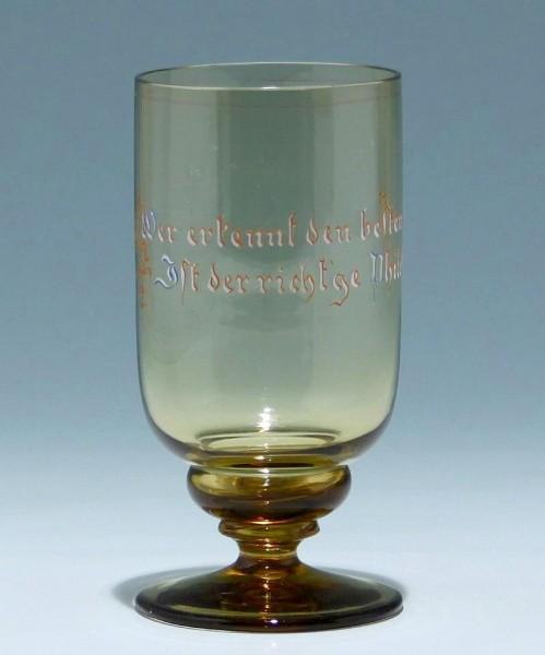 Historismus Becherglas mit Trinkspruch - circa 1890