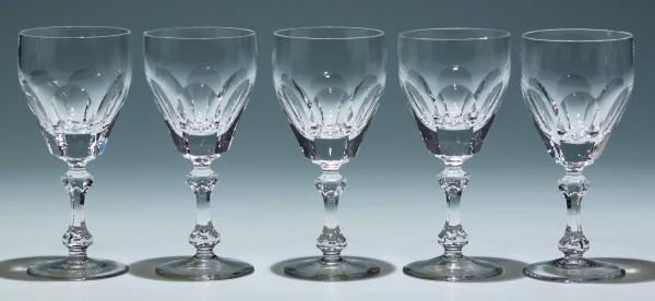 5 Schott Bleikristall Weingläser