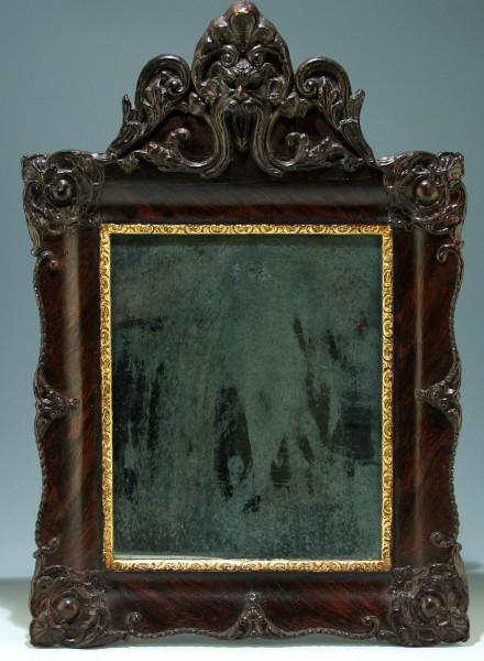 Kleiner Wandspiegel mit Renaissance-Fratze - Italien 19. Jh.