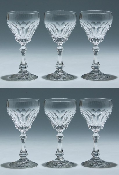 6 Schott Bleikristall Kelchgläser ALMERIA 14,1 cm
