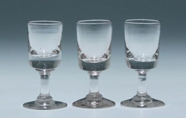 3 Kelchgläser - Frankreich 19. Jh. - 8,6 cm