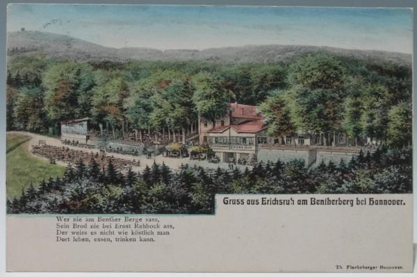 Ansichtskarte ERICHSRUH AM BENTHERBERG BEI HANNOVER - gelaufen 1909 #ak0006
