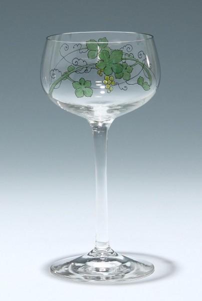 Bemaltes Theresienthal Jugendstil Weinglas