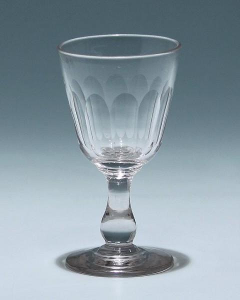 Portweinglas mit Ausschliff - Ende 19. Jh. - 12 cm