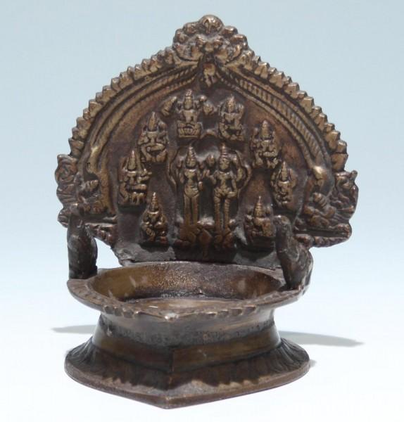 Indian Casted Bronze Ganesha Pedestal
