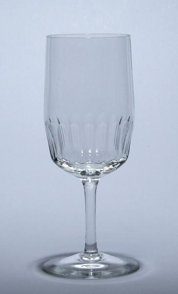 Weinglas mit Schliff 1950er Jahre