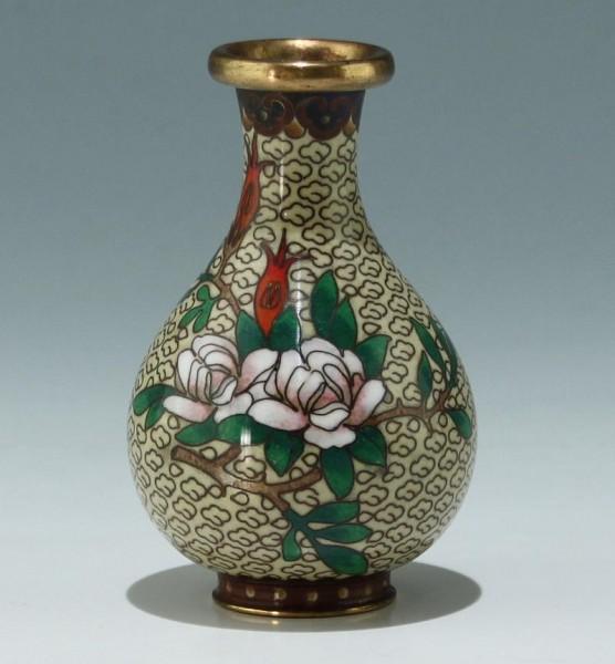 Kleine Cloisonné Vase - China 20. Jh. - 9 cm