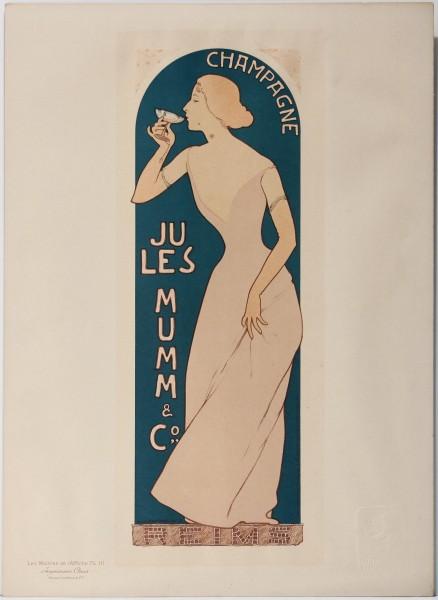 Les Maitres de l'Affiche - CHAMPAGNE JULES MUMM - by MAURICE RÉALIER-DUMAS