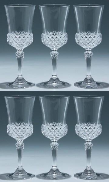 6 Cristal d`Arques Kelchgläser VALENCAY - 17,9 cm
