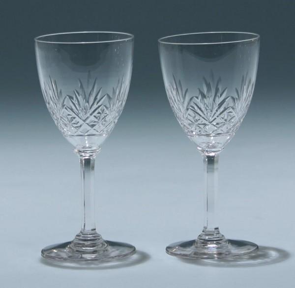 Paar Jugendstil Bleikristall Süßweingläser - circa 1910