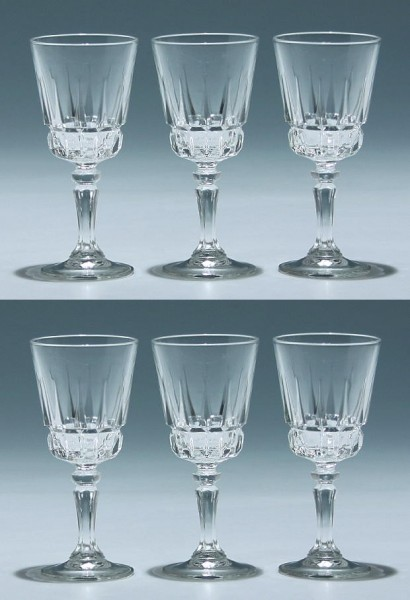 6 Cristal d`Arques Kelchgläser CHANTELLE - 11,2 cm