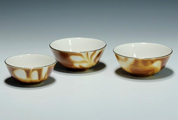 3 kleine Porzellanschälchen Zhongguo Zhi Zao CHINA Marke