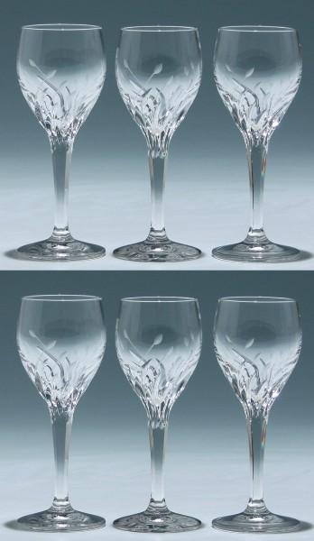 6 Nachtmann Bleikristall Likörgläser FLEURIE 12,5 cm