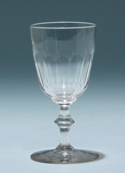 Kelchglas mit Ausschliff - Ende 19. Jh.