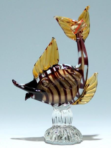 Murano Glas Fisch SOMMERSO 1970er Jahre