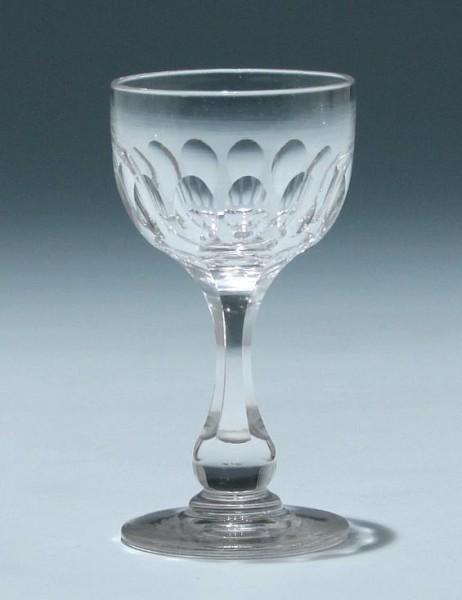 Bleikristall Kelchglas Frankreich circa 1900 - Höhe 11,3 cm