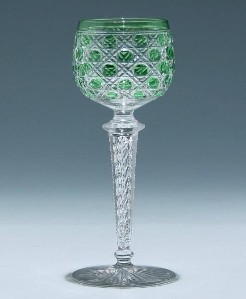 Saint Louis Lead Crystal Overlay Wineglass circa 1910
