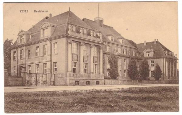 Ansichtskarte ZEITZ KREISHAUS - gelaufen 1918 #ak0045