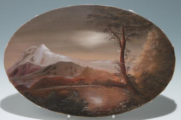 Kleines ovales Gemälde Ø 19,7 x 30,5 cm