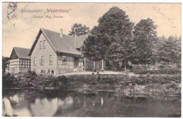 Ansichtskarte Melle - RESTAURANT Weberhaus - gelaufen 1910 #ak0064