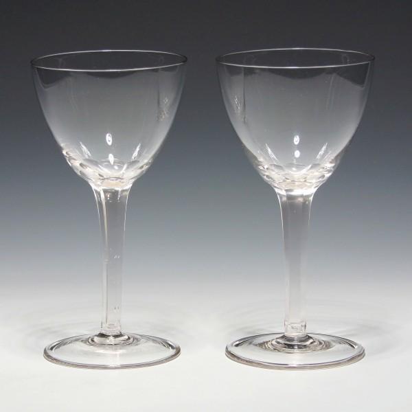 Paar Jugendstil Weingläser - circa 1900 - 17,5 cm