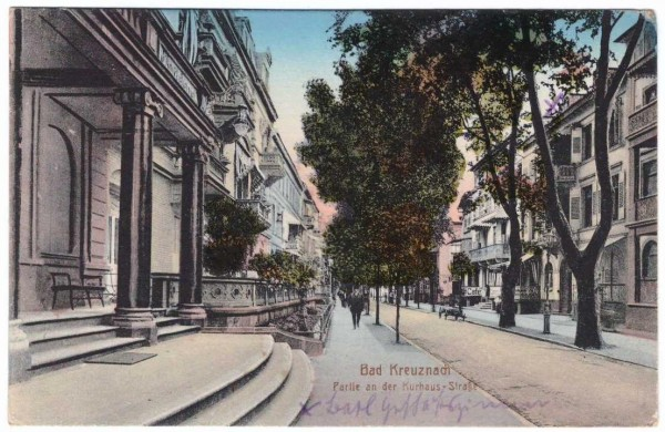 AK - BAD KREUZNACH - Kurhaus-Straße - gelaufen 1918 #ak0185