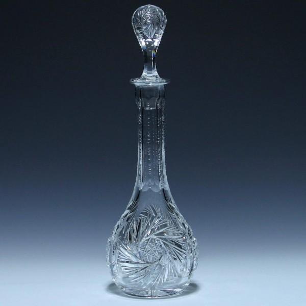 Bleikristall Karaffe mit Schleuderstern 1. Hälfte 20. Jh. - 29,7 cm-Copy