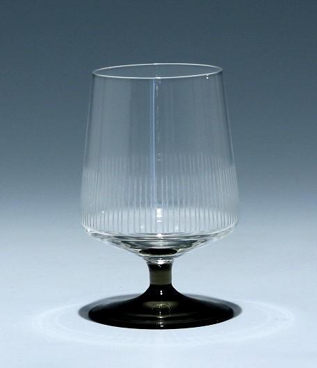 Friedrich Glas Cognacglas mit Liniengravur 1960er Jahre