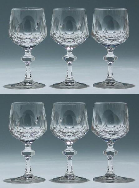 6 Nachtmann Bleikristall Weingläser ALEXANDRA 15,5 cm