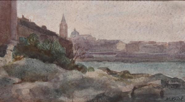 3 Aquarelle von Mario Kriek (Niederlande 1906-1977)