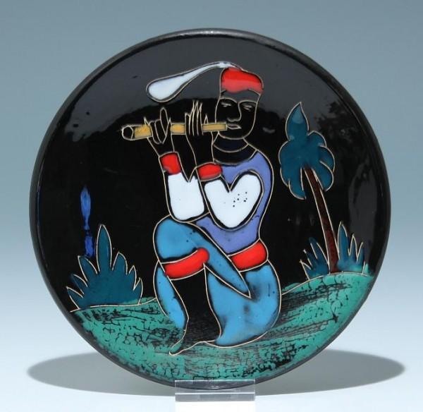 Keramik Wandteller 2. H. 20. Jh.
