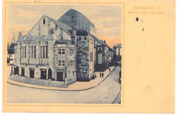 Ansichtskarte OSNABRÜCK STADT-THEATER - gelaufen 1910 #ak0019
