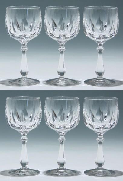 6 Nachtmann Bleikristall Kelchgläser SABINA 15,2 cm