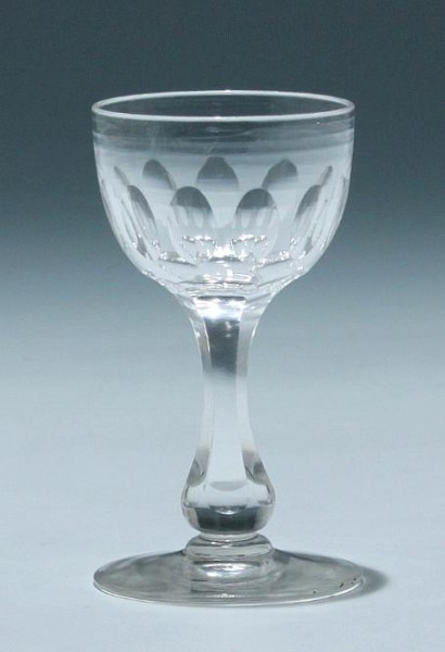 Bleikristall Kelchglas Frankreich circa 1900 - Höhe 10,1 cm