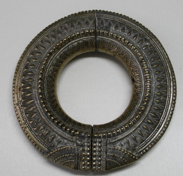 Indian Casted and Silvered Brass Ankle Bracelet circa 1920
