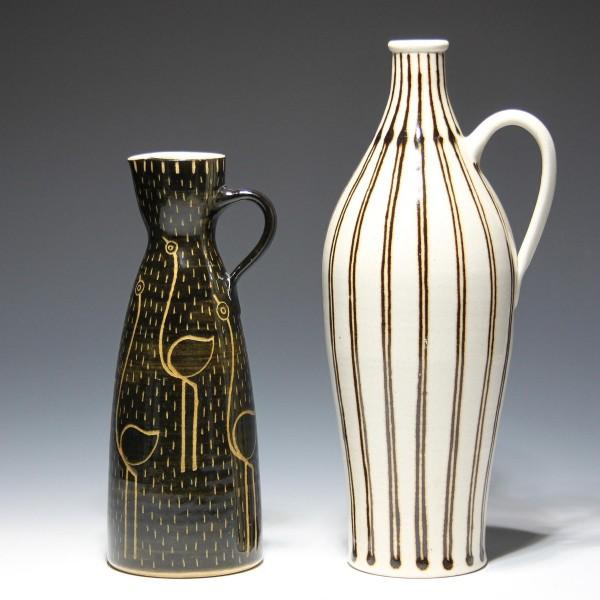 2 Studiokeramik Vasen mit gleicher Marke - 1950/60er Jahre