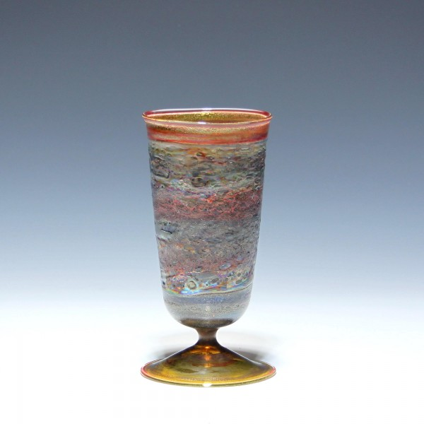 Lampengeblasene Vase 1980/90er Jahre - Höhe 14,2 cm