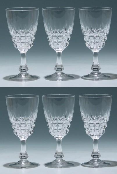 6 Cristal d`Arques Weingläser POMPADOUR 15,1 cm