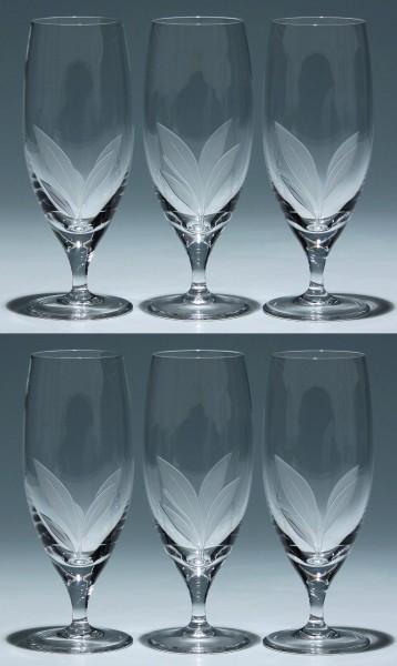 6 Schott Christinenhütte Bleikristall Biergläser