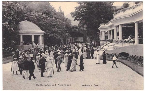 AK RADIUM-SOLBAD KREUZNACH, Kurhaus - gelaufen 1919 #ak0112