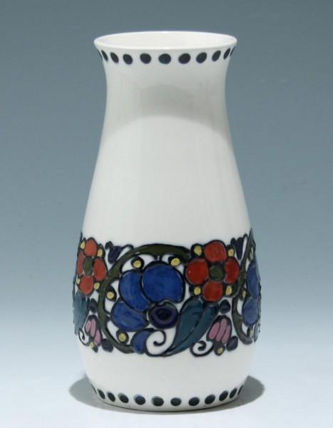 Reliefiert bemalte Jugendstil Keramikvase - um 1915